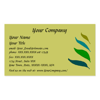 Four Leaves -black writing- business card template