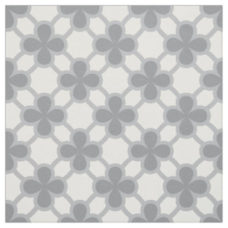 Four leaves clover geometric fabric