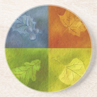 Four Leaves for Four Seasons Beverage Coaster