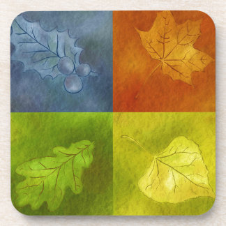 Four Leaves for Four Seasons Drink Coasters
