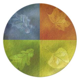 Four Leaves for Four Seasons Dinner Plate