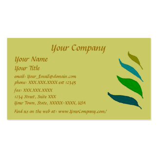 Four Leaves-mustard writing business card template