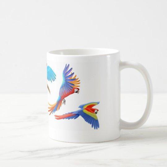 Four Macaws Mug
