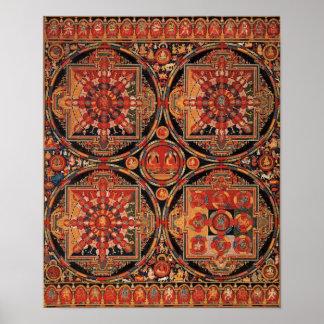 Four Mandalas Poster