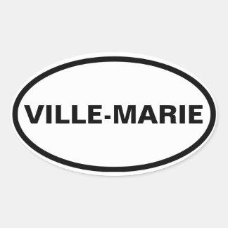 """FOUR Montréal """"Ville-Marie"""" Oval Sticker"""