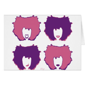 FOUR MOODS in PINK and PURPLE Greeting Card