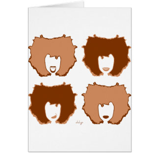 FOUR MOODS in TAN and BROWN Greeting Card