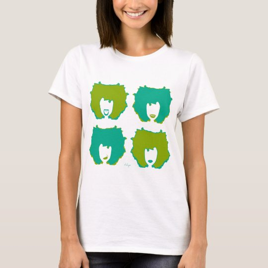 FOUR MOODS in TEAL and GREEN T-Shirt