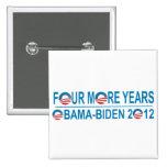 Four More Years - Obama-Biden 2012 Button