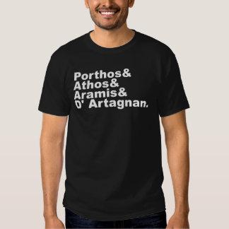 Four Musketeers - Porthos Athos Aramis D'Artagnan Tee Shirt