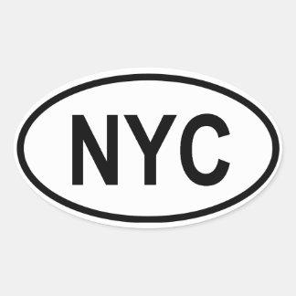"FOUR New York City ""NYC"" Oval Stickers"