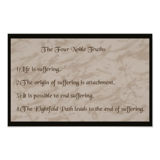 Four Noble Truths Buddhism Poster