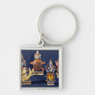 Four of the incarnations of Vishnu Key Ring