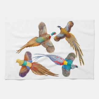 Four Ornamental Pheasants Kitchen Towel