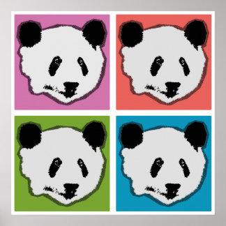 Four Panda Bears Posters