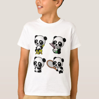 FOUR PANDAS shirt - choose style - customizable