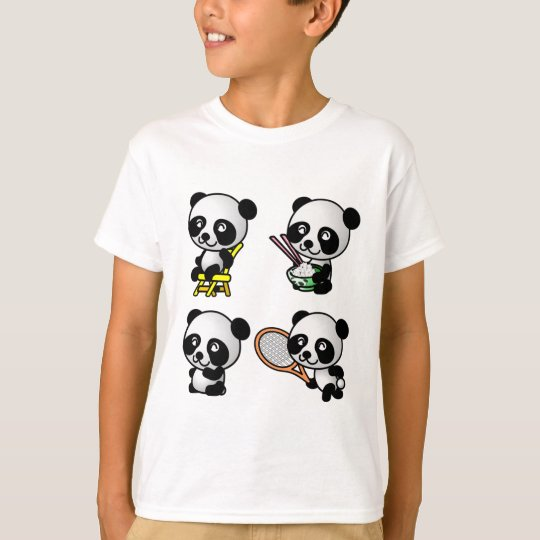 FOUR PANDAS shirt - choose style - customizable