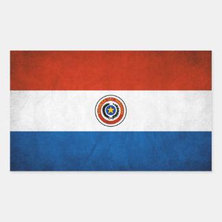 FOUR Paraguay National Flag Rectangular Sticker
