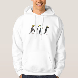 Four Penguins Illustration Hoodie