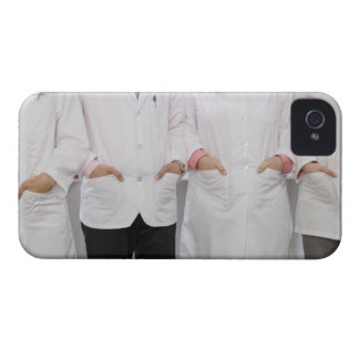 Four pharmacists with their hands in their iPhone 4 Case-Mate cases