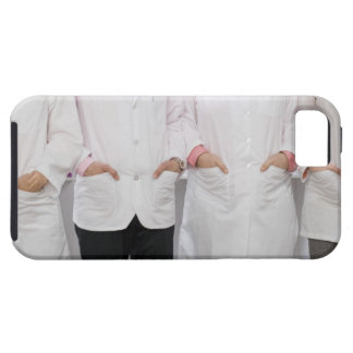 Four pharmacists with their hands in their tough iPhone 5 case