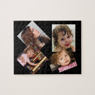 Four Photo Collage Template Jigsaw Puzzle