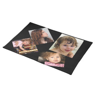 Four Photo Collage Template Placemat