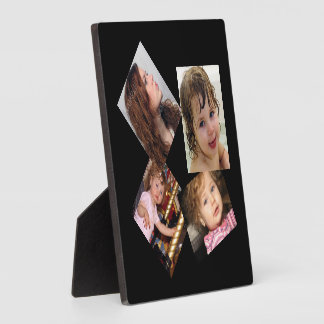 Four Photo Collage Template Plaque