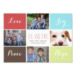 four photos collage Mod Holiday Flat card Custom Invites