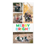 Four Photos Merry Bright and Colourful Skinny Card Picture Card