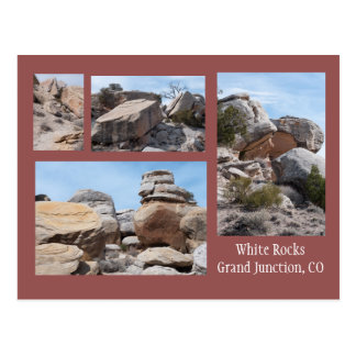 Four Photos of the White Rocks, GJ, CO Postcard