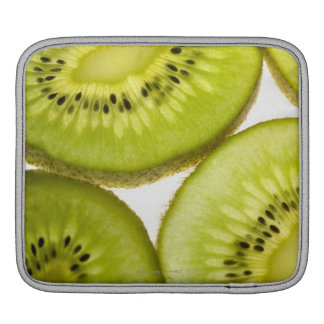 Four pieces of sliced kiwi iPad sleeve