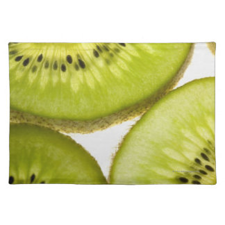 Four pieces of sliced kiwi placemat