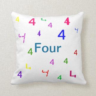 Four Pillow - Decorative Accent Throw Pillow 3 Throw Cushion