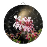 Four Pink Flowers Dartboard