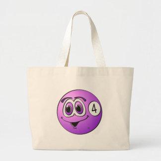 Four Pool Ball Cartoon Jumbo Tote Bag