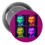 Four Pop Art Abraham Lincolns 7.5 Cm Round Badge