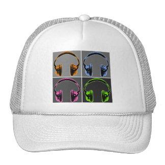 Four Pop Art Headphones Cap