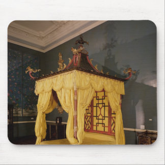 Four Poster Bed, in the Chinese style, 1750s Mouse Pad