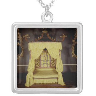 Four Poster Bed, in the Chinese style, 1750s Silver Plated Necklace
