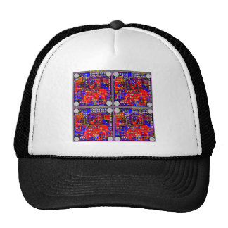 Four Printed Circuit Boards (PCB) Mesh Hats