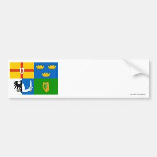 Four-Province Flag Car Bumper Sticker