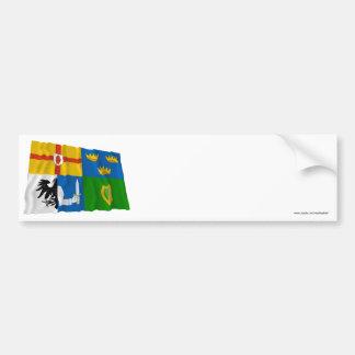 Four-Province Waving Flag Car Bumper Sticker
