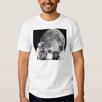 Four Pug Moon Men's T-Shirts