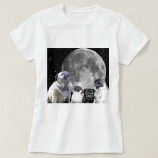 Four Pug Moon Women's T-Shirt