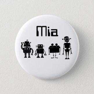 Four Robots 6 Cm Round Badge