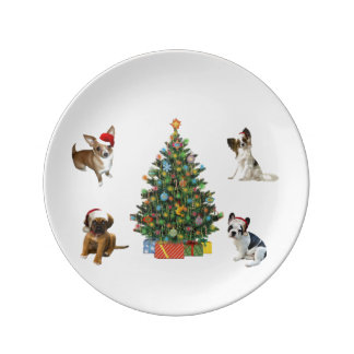 Four Santas Porcelain Plate