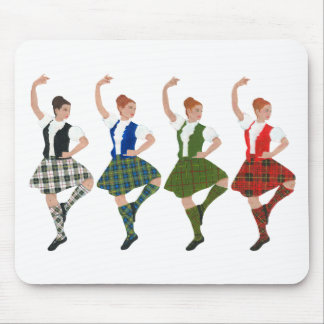 Four Scottish Highland Dancers Mouse Pad