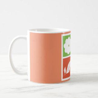 Four season in flat design coffee mug