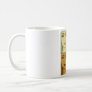 Four season one  girl face coffee mug